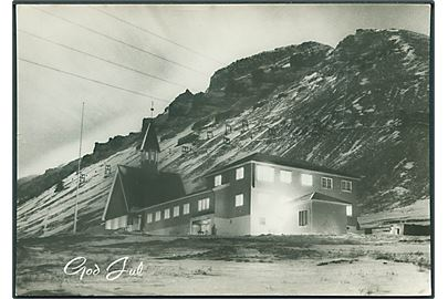 Svalbard Kirke. God Jul. Nødtved, Longyearbyen no. 12. Fotokort.