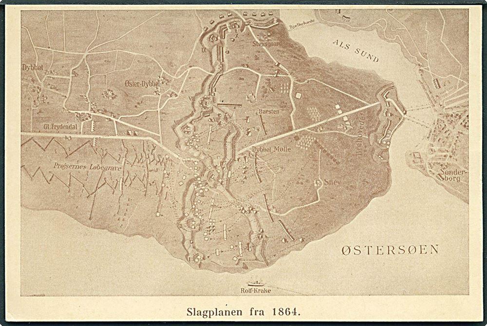 Krigen 1864 Slagplanen Fra 1864 Med Kort Over Dybbol Skanse Biehl