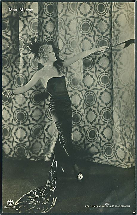 Skuespillerinde Mae Murray. Alex Vincents no. 213. Fotokort.