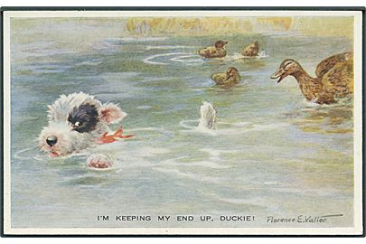 Florence E. Valler: I'm keeping my end up, Duckie. Valentine's Valter no. 1633.