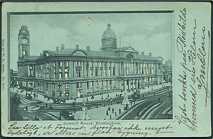 Birmingham. Council House. Hold mod lys/Hold to Light. W.H. No. 3110.
