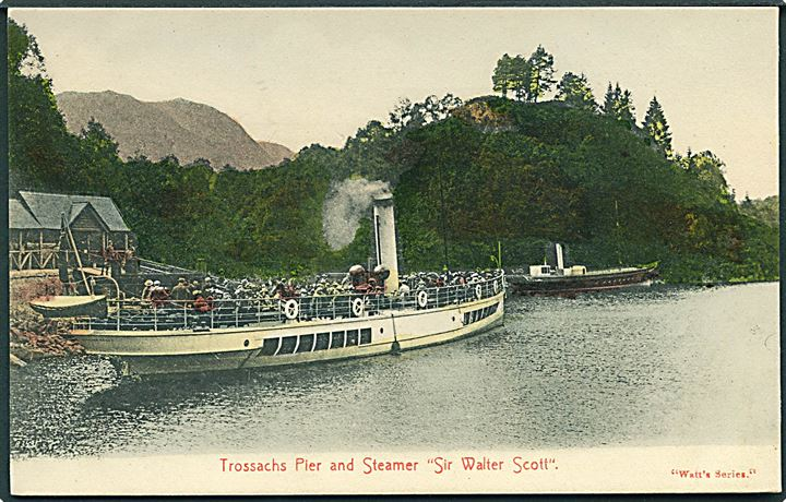 Sir Walter Scott, S/S, ved Trossachs Pier i Scotland. Watt's Series u/no.