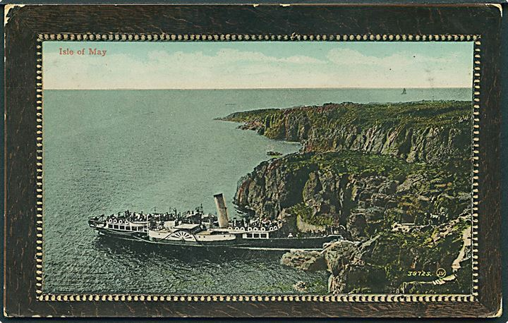 England. Isle of May med dampskib. Valentine no. 38725.