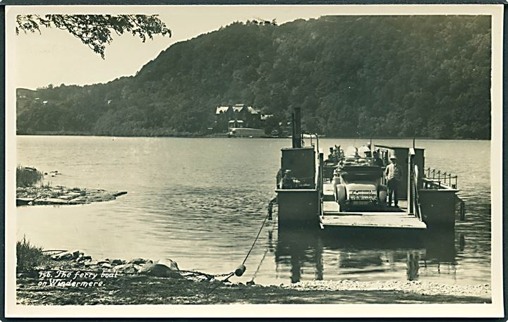 The Ferry boat on Windermere. G. P. Abraham no. 756. Fotokort.