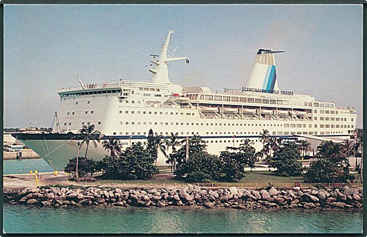 M/S Scandinavia. Scandinavian World Cruises fleet. U/no.