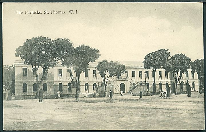 D.V.I., St. Thomas. The Barracks. E. Fraas no. 8. Kvalitet 8