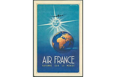 Air France, Rayonne sur le monde. Alépée & Co. no. 256-P-7/48. Kvalitet 8
