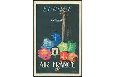 Air France, Europe. Alépée & Co. no. 265-P-7/48. Kvalitet 8