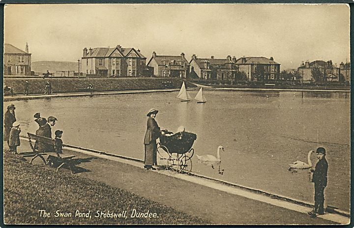 The Swan pond, Stobswell, Dundee. Philco Series no. 4537.
