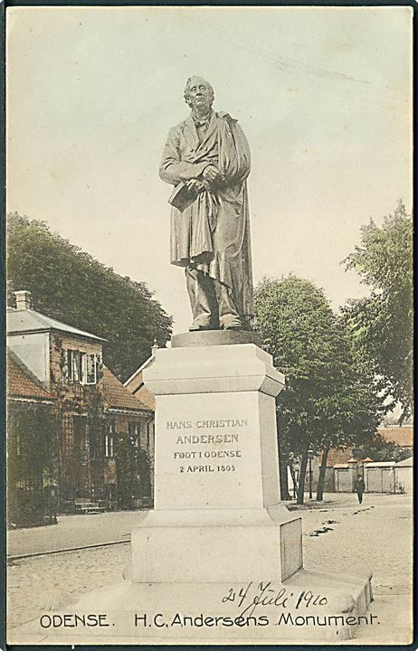 H. C. Andersens Monument, Odense. Stenders no. 7199.