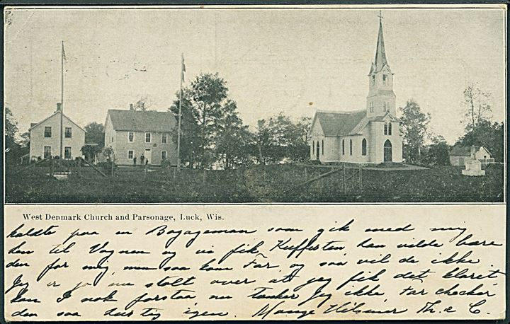 Luck, Wisconsin. West Denmark Church and Parsonage. U/no.