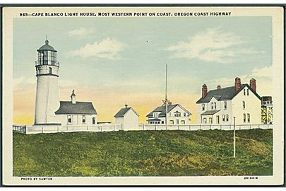 Cape Blanco Light House, Most western point on coast, Oregon Coast Highway. Sawyer no. 965.
