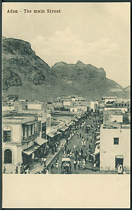 The Main Street, Aden. I. Benghiat Son no. 3291.