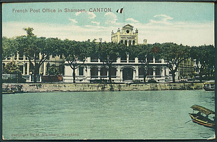 French Post Office in Shameen, Canton. M. Sternberg u/no.