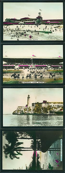 12 stk Havana Miniatures, Cuba. Genuine Photos with story of subjest on reverce side.  9, 5 x 6,3 cm. Fotokort.