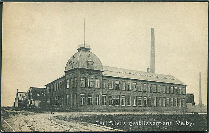 Valby, Carl Allers Etablissement. Cigarhandler Hoppe no. 8985.