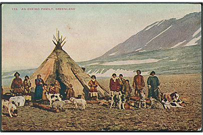 An eskimo family, Greenland. No. 133. Kvalitet 7