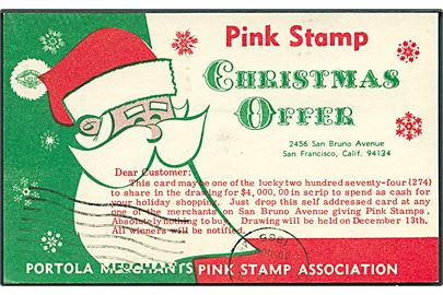 Pink Stamp. Christmas Offer. Portola Merchants pink stamp association. Uden adresselinier. U/no.