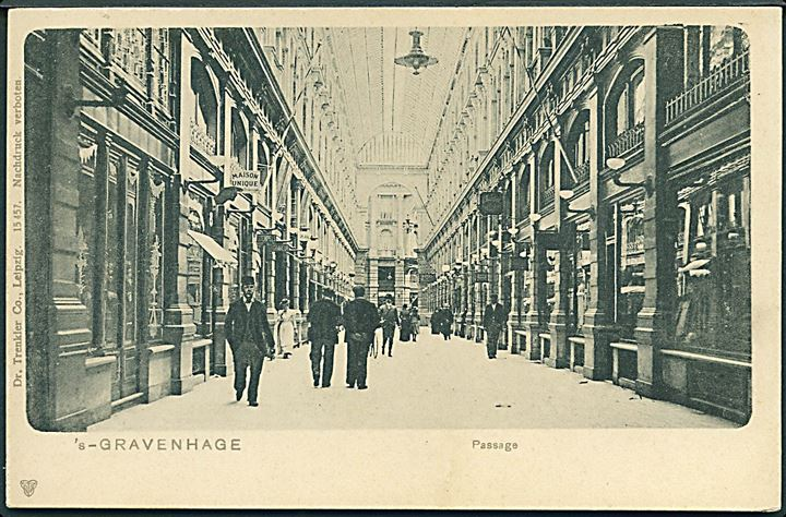 Holland. 's - Gravenhage. Passage. Dr. Trenkler & Co. no. 15457.