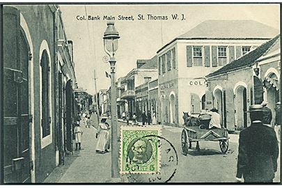 Dansk Vestindien. Col. Bank main street, St. Thomas W. J. Edw. Fraas series u/no.