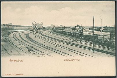 Holland, Amersfoort, Stationsterrein. G. G. Veenendaal u/no. Kvalitet 9