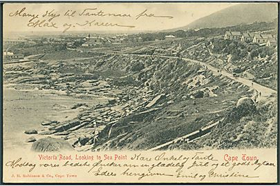 Cape Town. Victoria Road, looking to Sea Point. J. H. Robinson & Co. no. 72291. (Afrevet mærke).