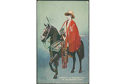 Nigeria. A mounted emir of the western Sudan. Raphael Tuck & Sons Oilette u/no.