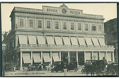 Egypten. Alexandrie. The Exchange. P. Coustoulides no. 3.
