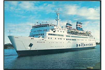 M/S Rogalin. Polferries. Ystad Centraltryckeri no. 81370 - 12.