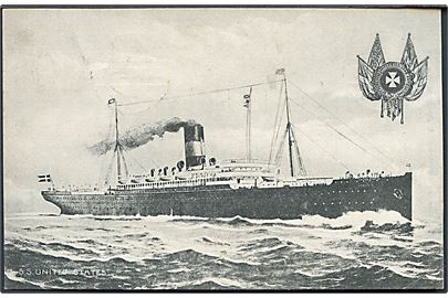 S/S United States. Alex Vincents no. 127. DFDS.
