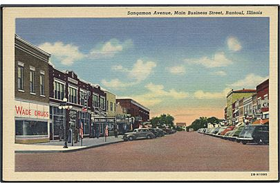 Sangamon Avenue, Main Business Street, Rantoul, Illinois. No. 2B - H1095.