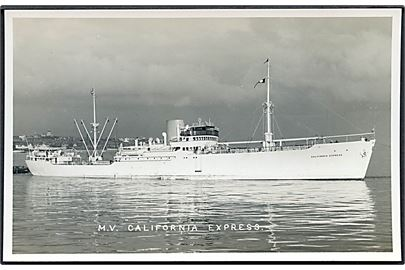 California Express, M/S, Sigurd Herlofsen & Co., Oslo. B. & A. Feilden u/no.