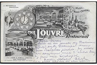 USA. San Francisco. The Louvre Restaurant. J. Meyerfeld, Proprietor.