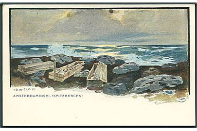 "Svalbard. H. B. Wieland: ""Amsterdam insel"". C. A. & Co. no. 3016. Kvalitet 8"