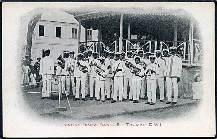 D.V.I., St. Thomas, Native Brass Band. Taylor's Book Store u/no. Kvalitet 8