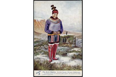 "Tucks & Sons, ""The Arctic Regions"" no. 7339. Eskimo kvinde.  Kvalitet 8"