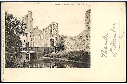 England. Norfolk. Castor castle near Yarmouth. Raphael Tuck & Sons County, postcard 2114 Norfolk.