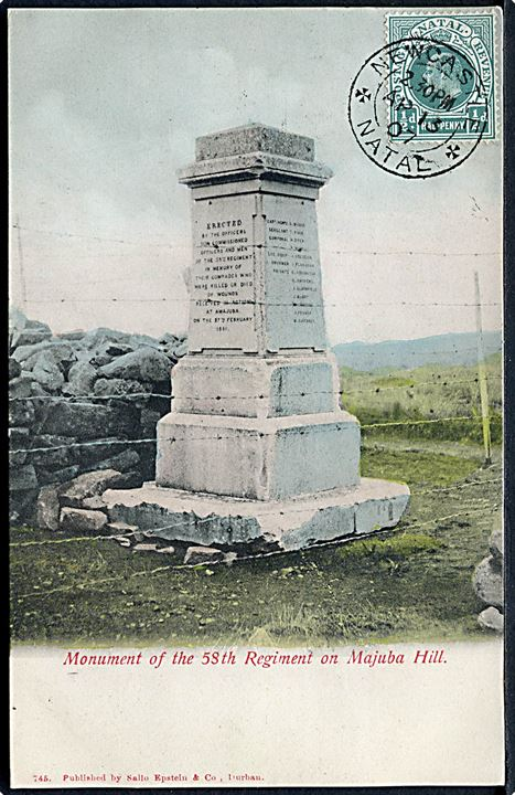 Monument of the 58th Regiment on Majuba Hill. Sallo Epstein & Co. no. 745.