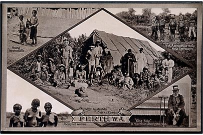Perth. W. A. Australiens Aboriginal. P. Falk & Co. no. 5.