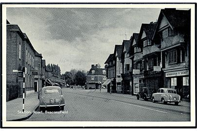England. Station Road med Post kontor, Baconsfield. T. V. A. P., series XCIV no. 2447.
