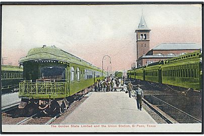 El Paso, The Golden State Limited og Union station med holdende tog.