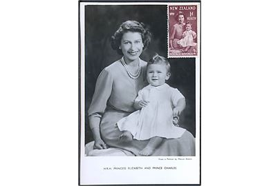H. R. H. Princess Elizabeth and Prince Charles. Raphael Tuck & Sons Ltd. u/no. Kombikort.