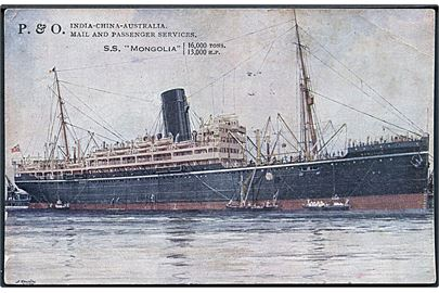 Mongolia, S/S, Peninsular and Oriental Steam Navigation Company. Hj. knæk.