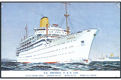 Arcadia, S/S, Peninsular and Oriental Steam Navigation Company. No. 5265.