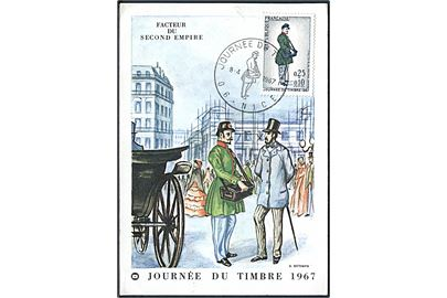 G. Betemps: Journée Du Timbre 1967. Facteur Du Second Empire. Maxikort. Blondel La Rougery 75150 / 16 / 67.