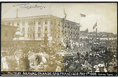 San Francisco, Military & Naval Parade 7.5.1908. Patton u/no.
