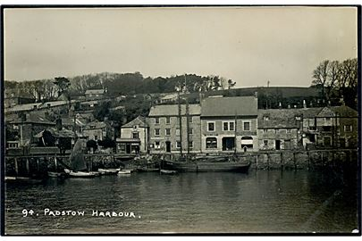 England, Cornwall, Padstow Harbour med sejlskib.