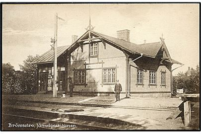 Sverige, Brömsebro, jernbanestation. B. Johnsson u/no. Kvalitet 9