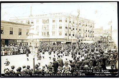 USA. San Francisco Military & Naval Parade 1908. Columbia Park Boys Band.