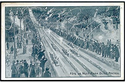 Canada. Fête de Nnuit - Park slide, Montreal. Illustrated Post Card Co u/no.